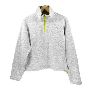 Thread & Supply Quarter Zip Fleece Jacket Top